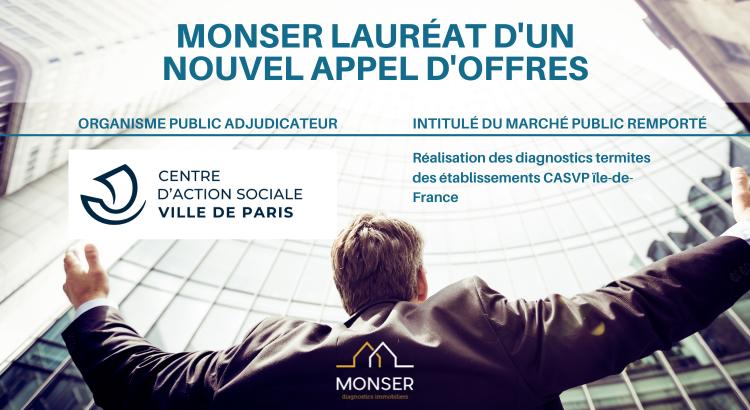 Monser remporte un nouvel appel d'offres du CASVP