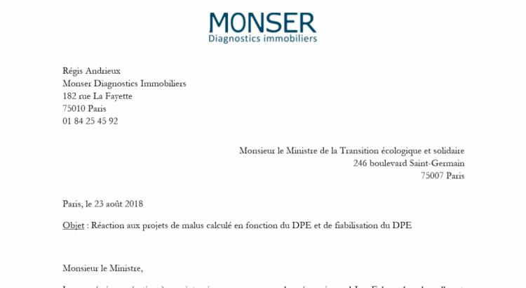 Futur DPE : notre appel au ministère
